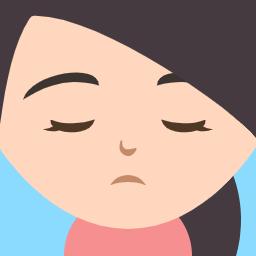 悩んでいる私の顔のイラスト