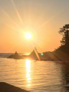 吹浦海岸の夕日