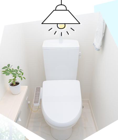 トイレに「goo of things でんきゅうAI」を設置